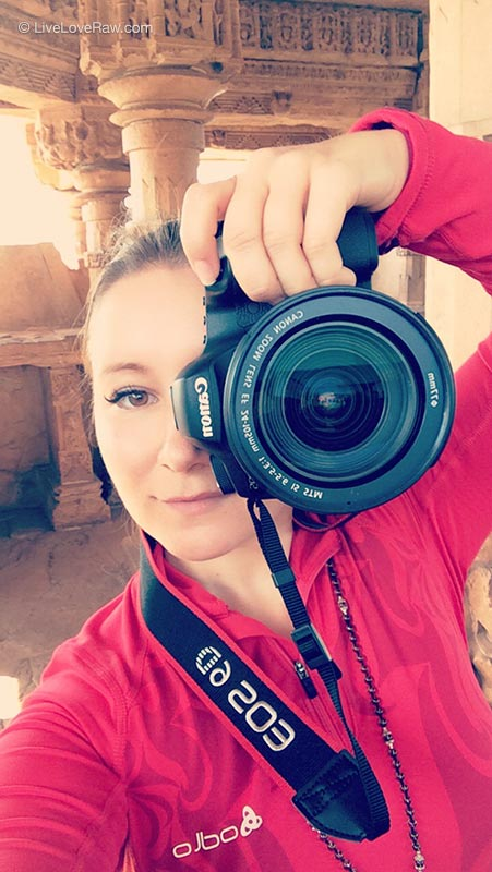 Anya Andreeva with Canon 6D camera portrait. Photography, videography, web design
