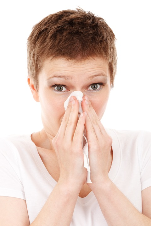 allergy itchy nose blow