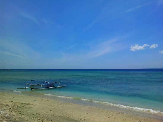 Beach at Gili Air high tide