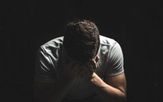man sad dark