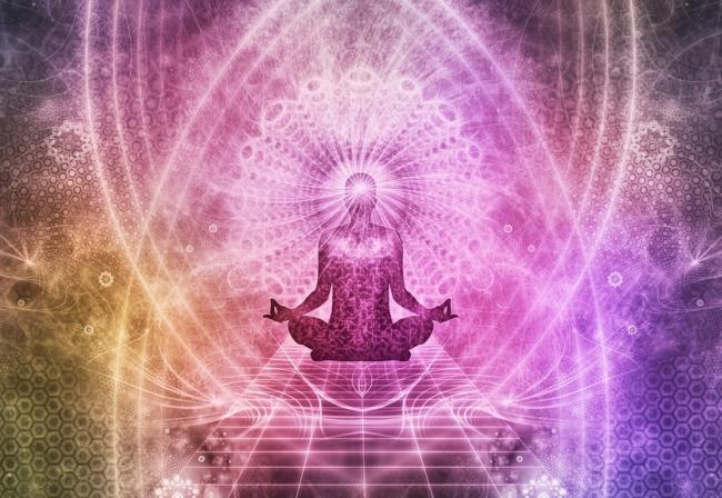 meditation spirituality colourful person