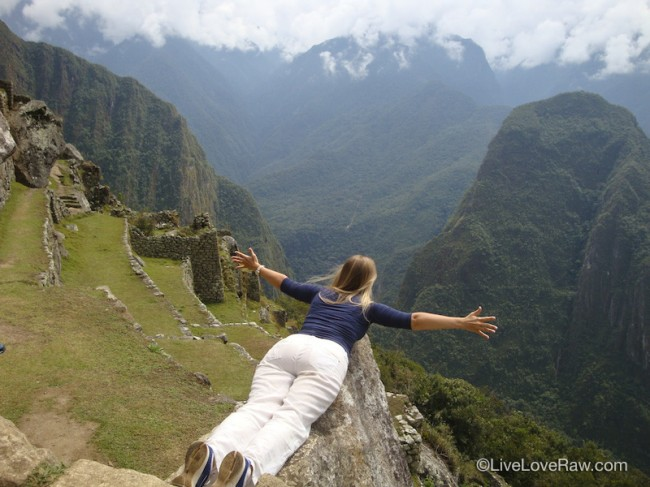 Anya Andreeva flying in Peru, Machu Picchu