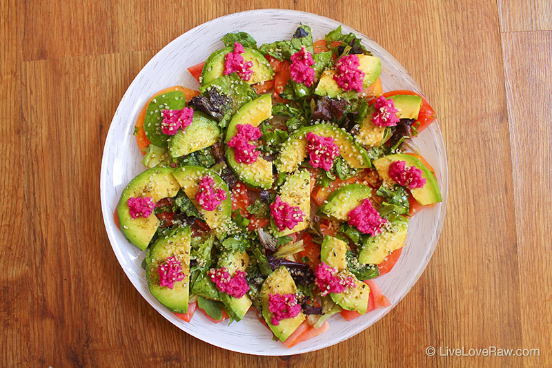 5 simple raw food recipes with 5 ingredients or less live love raw raw tomato and avocado salad by anya andreeva live love raw forumfinder Image collections