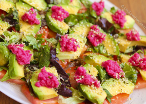 Raw tomato and avocado salad by Anya Andreeva, Live Love Raw