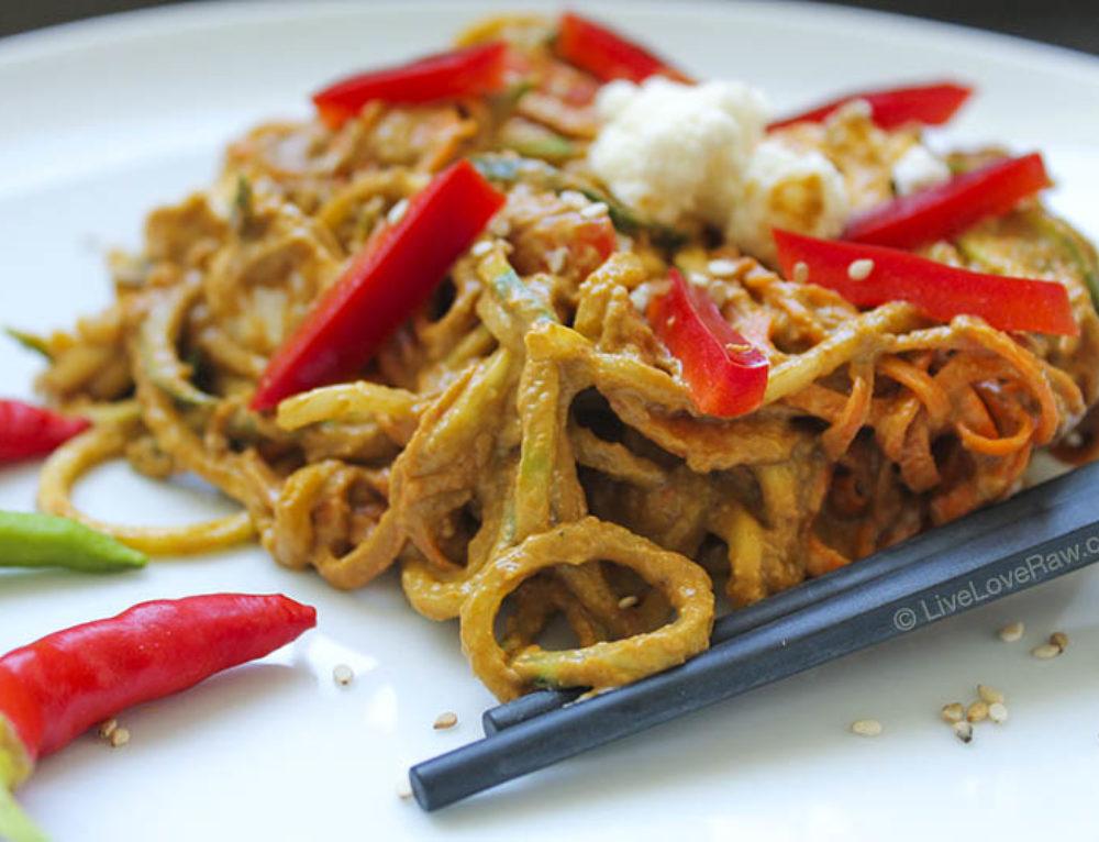 Gluten-free Pad Thai (spicy Asian noodles)