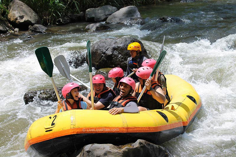 Rafting in Bali, Indonesia, review of Telaga Waja and Ayung rivers