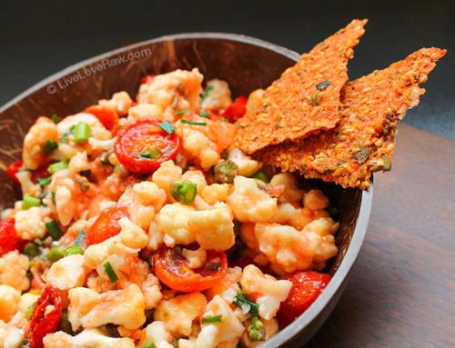 Marinated cauliflower in tomato sauce