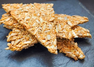 Gluten free sunflower seed raw vegan crackers without a dehydrator