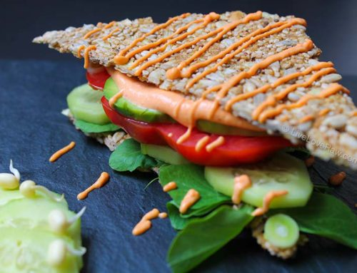 Raw and gluten-free sandwich – no dehydrator required