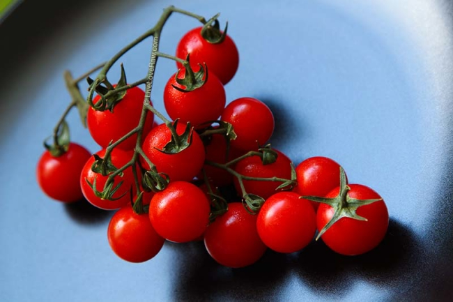 Ripe red cherry tomatoes