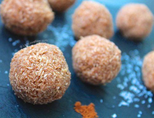 No-bake, sweet cinnamon coconut balls – no equipment needed