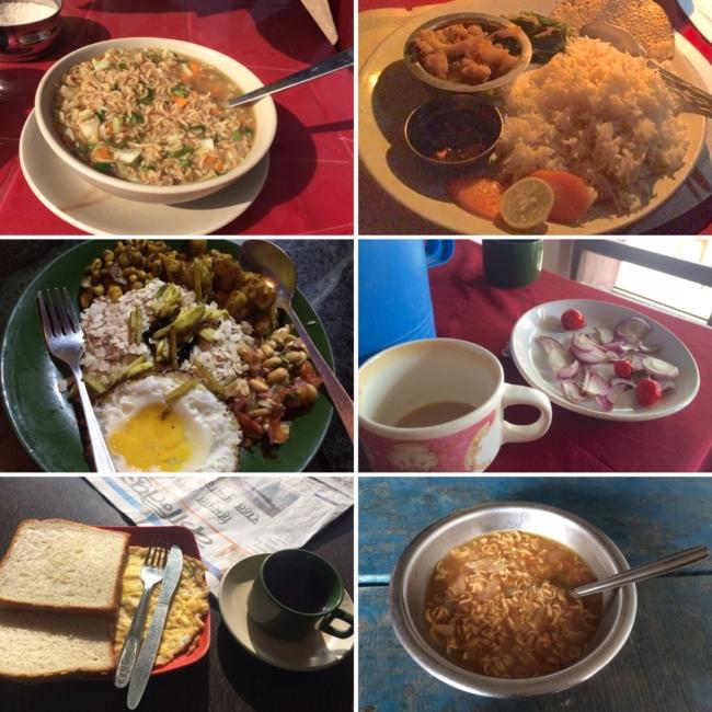 Vegetarian Nepalese food, dal bhat