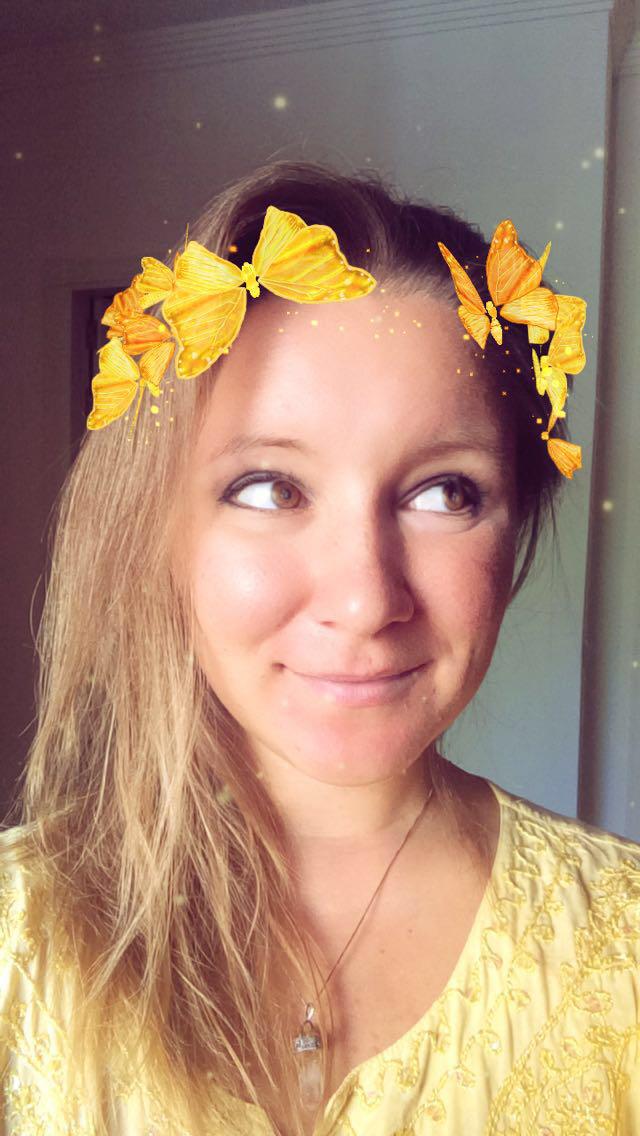 Anya Andreeva snapchat butterfly filter