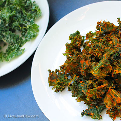Raw vegan kale chips by Live Love Raw in Marbella