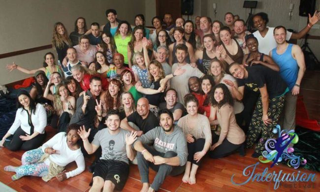 Monique Darling and Peter Peterson, tantra workshop group photo