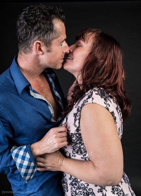 Monique Darling and Peter Peterson, tantra workshops, couple, romantic, kissing