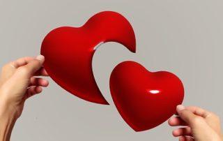 hands heart love couple