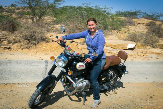 Anya Andreeva world digital nomad motorbike Gujarat India
