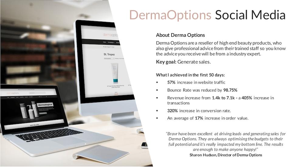 beauty ecommerce client social media management stats
