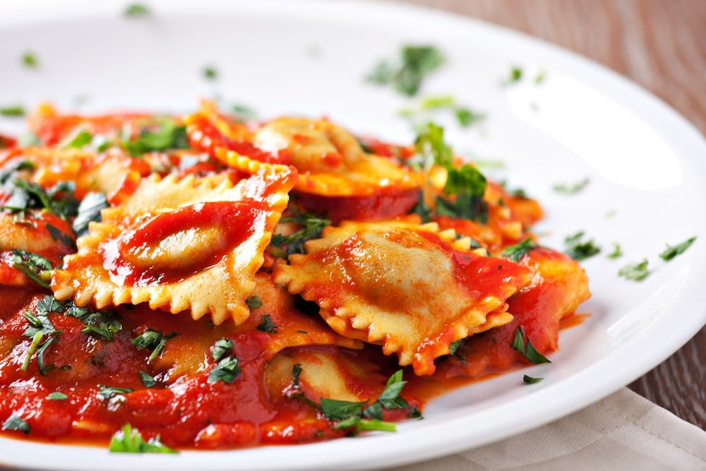 food in Italy, ravioli