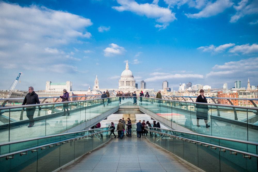 St. Pauls bridge, London tourism