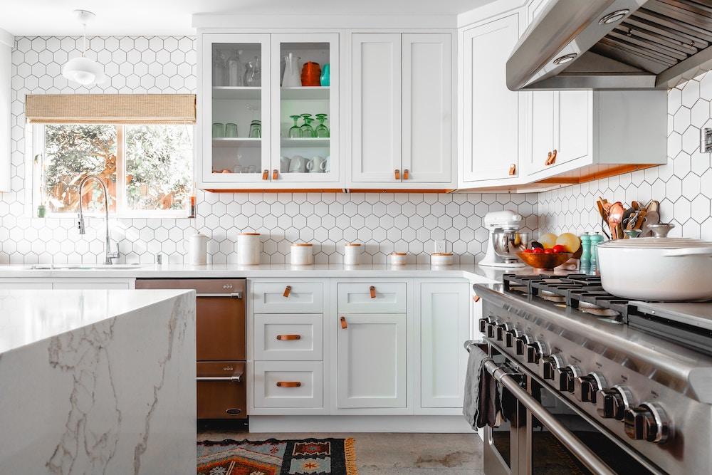 rustic vegan white kitchen