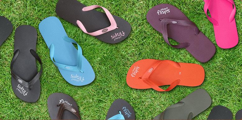 planet flops, flip flops from natural rubber